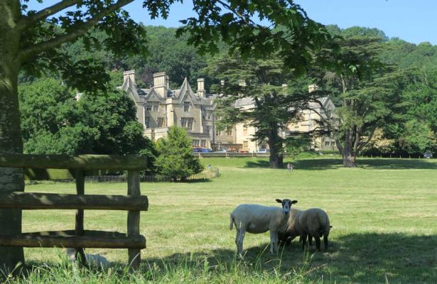The approach to Dumbleton Hall Hotel