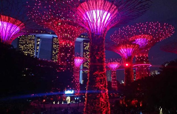Supertrees Light Show, Gardens by the Bay, Singapore