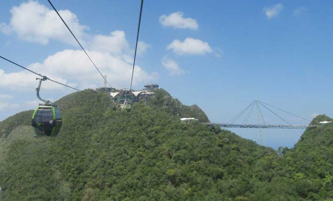 Cable car top station with Skybridge on right, Langkawi